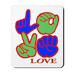 Square F.S. LOVE Mousepad