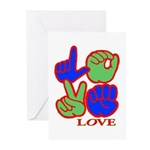 Square F.S. LOVE Greeting Cards (Pk of 20)