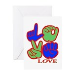 Square F.S. LOVE Greeting Card