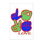 Square F.S. LOVE Mini Poster Print