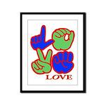 Square F.S. LOVE Framed Panel Print