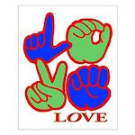 Square F.S. LOVE Small Poster