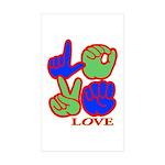 Square F.S. LOVE Sticker (Rectangle 10 pk)