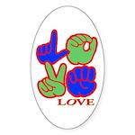 Square F.S. LOVE Sticker (Oval 50 pk)