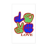 Square F.S. LOVE Sticker (Rectangle)