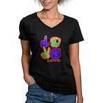 Square F.S. LOVE Women's V-Neck Dark T-Shirt