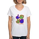Square F.S. LOVE Women's V-Neck T-Shirt