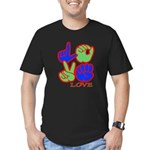 Square F.S. LOVE Men's Fitted T-Shirt (dark)