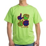 Square F.S. LOVE Green T-Shirt