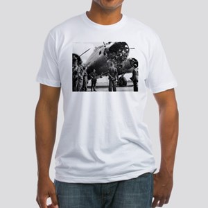 Battle Damaged B-17 Fitted T-Shirt