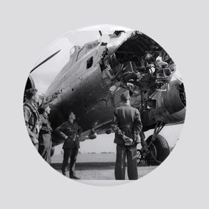 Battle Damaged B-17 Ornament (Round)
