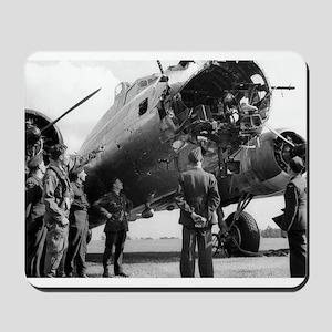 Battle Damaged B-17 Mousepad
