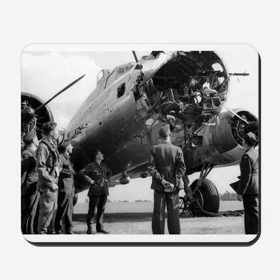 Battle Damaged B-17 Mousepad