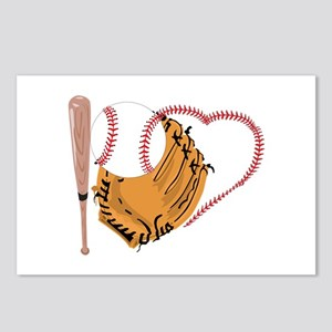 I Love Baseball, Bat &amp Postcards (Package of 8)