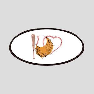 I Love Baseball, Bat & Mitt Patch
