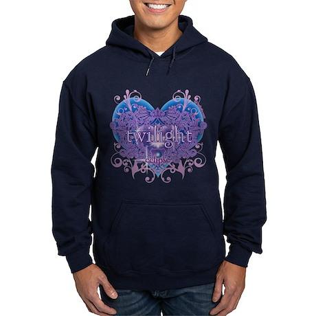 Twilight Eclipse Purple Heart Hoodie (dark)