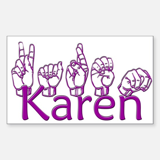 Karen-ppl Sticker (Rectangle)