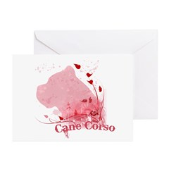 Cane Corso Pink Greeting Cards (Pk of 10)