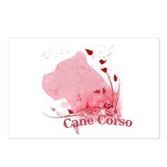Cane Corso Pink Postcards (Package of 8)