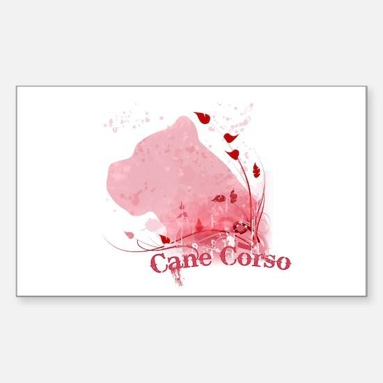 Cane Corso Pink Sticker (Rectangle)