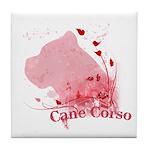 Cane Corso Pink Tile Coaster