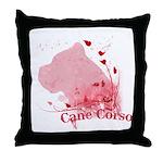 Cane Corso Pink Throw Pillow