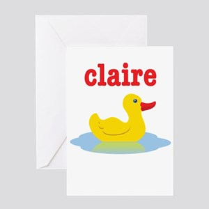 Claire's rubber ducky Greeting Card