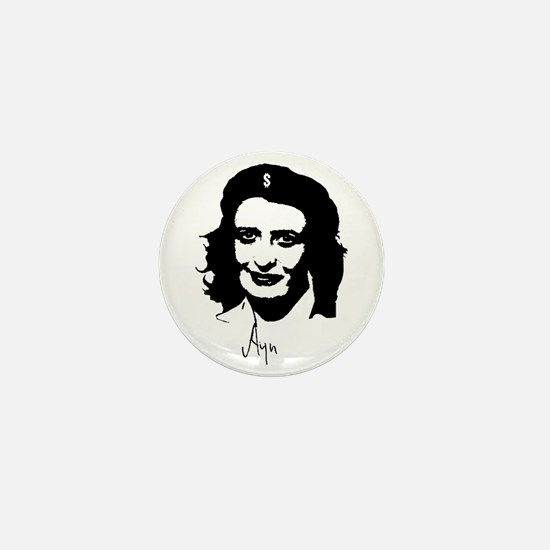 Ayn, revolutionary thinker. Mini Button