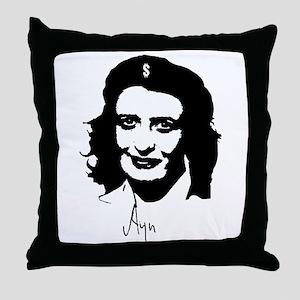 Ayn, revolutionary thinker. Throw Pillow