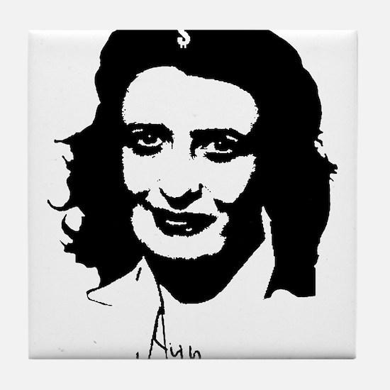 Ayn, revolutionary thinker. Tile Coaster