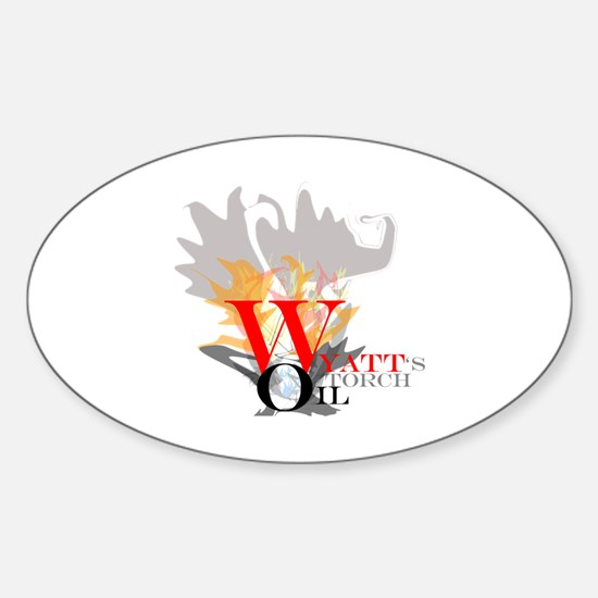 Wyatt's Torch Sticker (Oval)