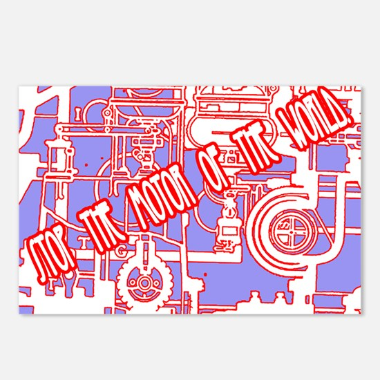 Stop the motor of the world. Postcards (Package of