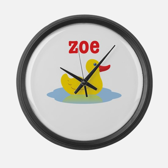 Zoe's Rubber Ducky Large Wall Clock