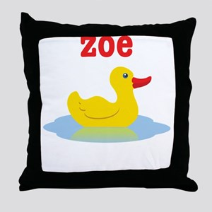 Zoe's Rubber Ducky Throw Pillow