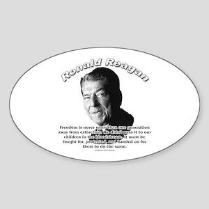 Ronald Reagan 02 Oval Sticker