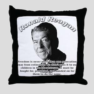 Ronald Reagan 02 Throw Pillow