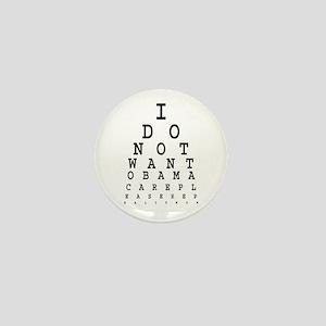 Obamacare eye test. Mini Button