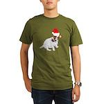 Santa Jack Russell Organic Men's T-Shirt (dark)