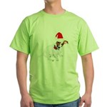 Santa Jack Russell Green T-Shirt