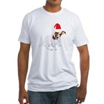 Santa Jack Russell Fitted T-Shirt