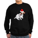 Santa Jack Russell Sweatshirt (dark)
