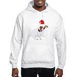 Santa Jack Russell Hooded Sweatshirt