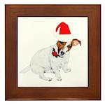 Santa Jack Russell Framed Tile