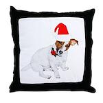 Santa Jack Russell Throw Pillow