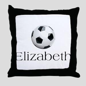 Elizabeth Soccer Throw Pillow