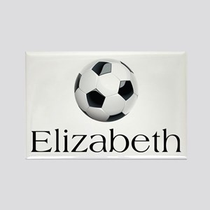 Elizabeth Soccer Rectangle Magnet