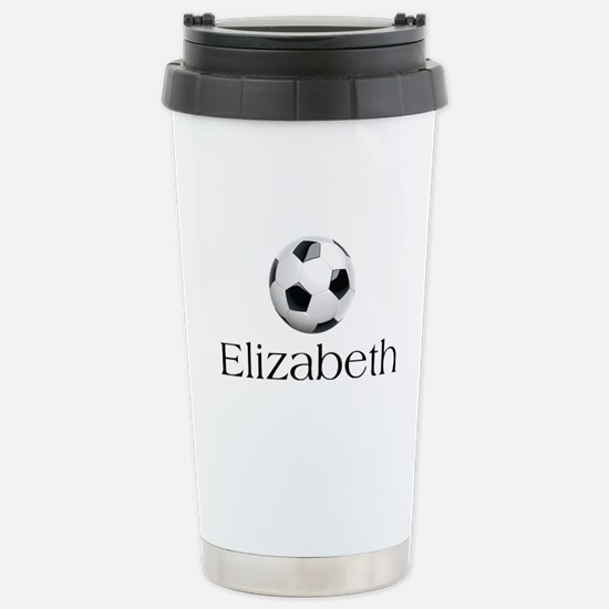 Elizabeth Soccer Stainless Steel Travel Mug