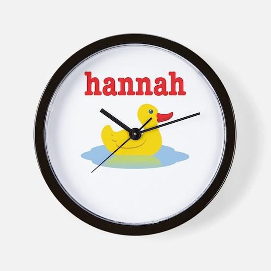 Hannah's Rubber Ducky Wall Clock