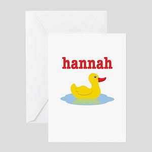 Hannah's Rubber Ducky Greeting Card