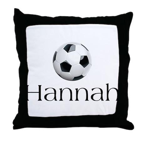 Hannah Soccer Throw Pillow